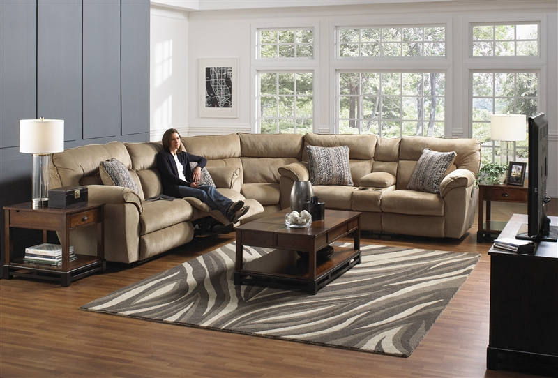 Ashton 3 Piece Power Reclining Sectional In Quot Almond Quot Color