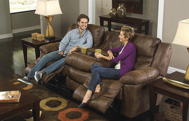 Valiant Power Reclining Sofa With Drop Down Table In