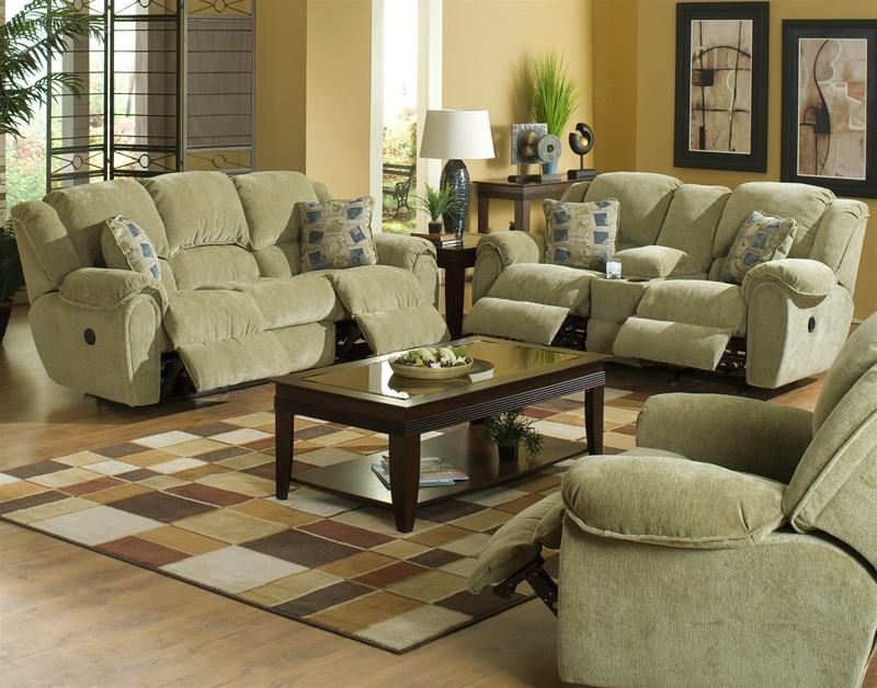 Conrad 2 Piece Reclining Sofa Set In Thistle Color Chenille Fabric By Catner 6151 T S