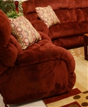 "Siesta POWER Lay Flat Recliner in ""Wine"" Color Fabric by Catnapper - 61760-7-W"