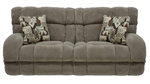 "Siesta POWER Lay Flat Reclining Sofa in ""Porcini"" Color Fabric by Catnapper - 61761-P"