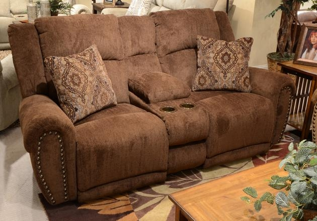 Stafford POWER Lay Flat Reclining Loveseat in  Tobacco  Color Fabric by Catnapper - 61779-T & Stafford POWER Lay Flat Reclining Loveseat in