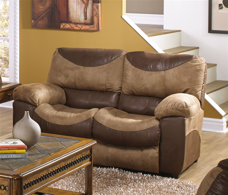 Terrific Portman Power Reclining Loveseat In Two Tone Chocolate And Saddle Fabric By Catnapper 61962 Inzonedesignstudio Interior Chair Design Inzonedesignstudiocom