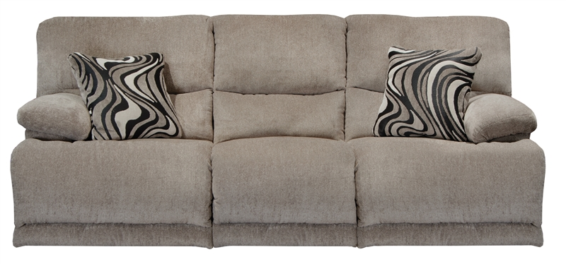 Jules Power Reclining Sofa In Pewter Chenille Fabric By Catnapper   62201 P