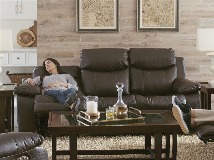 Connor Power Headrest Lay Flat Reclining Sofa in Godiva Fabric by Catnapper  - 64001-G