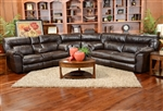 Nolan 3 Piece Leather Power Reclining Sectional by Catnapper - 64041-SEC