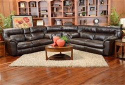 Nolan 3 Piece Godiva Leather Power Reclining Sectional by Catnapper - 64041-SEC