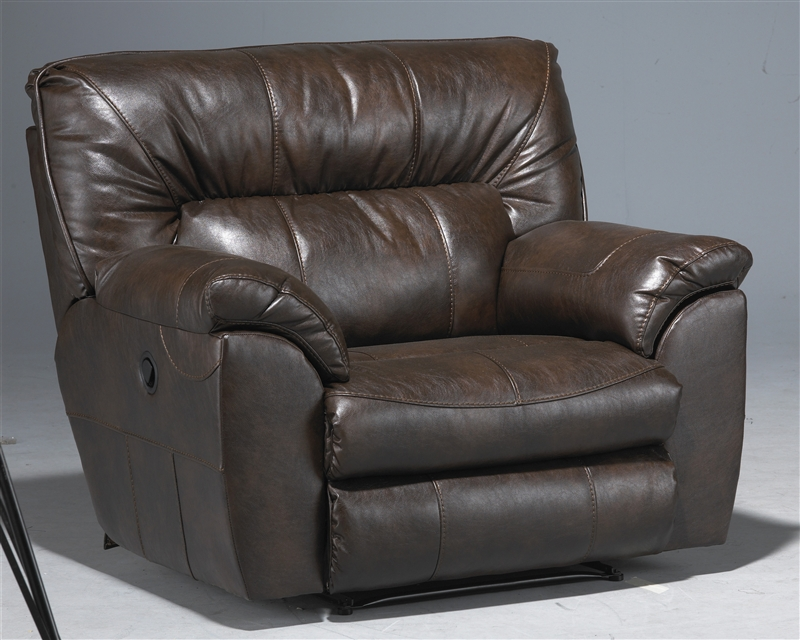 Nolan Leather POWER Reclining Console Loveseat by Catnapper - 64049