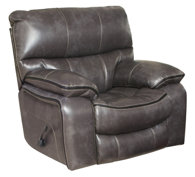 Camden Power Lay Flat Recliner in Black Color Leather Like Fabric by Catnapper - 64080-7-BLK