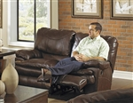 Perez Leather Power Reclining Loveseat by Catnapper - 64142