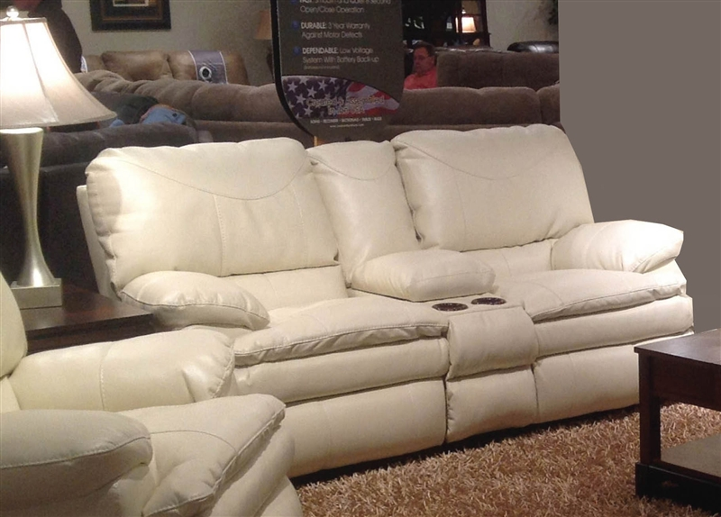 & Perez Leather Power Reclining Console Loveseat by Catnapper - 64149 islam-shia.org