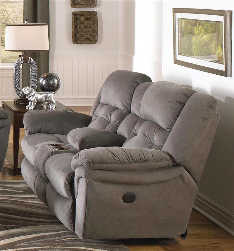 Joyner POWER Lay Flat Reclining Console Loveseat Almond Marble or Slate Fabric by Catnapper - 64259 & Joyner POWER Lay Flat Reclining Console Loveseat Almond Marble or ... islam-shia.org