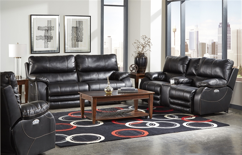 Pleasant Sheridan 2 Piece Power Reclining Sofa Set In Black Color By Catnapper 6427 B Inzonedesignstudio Interior Chair Design Inzonedesignstudiocom
