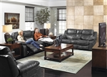 Catalina 2 Piece POWER Leather Reclining Sofa Set by Catnapper - 6431-2