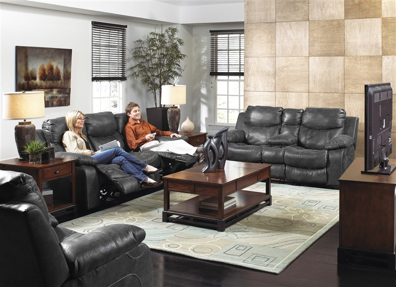 Catalina 2 Piece Power Leather Reclining Sofa Set By