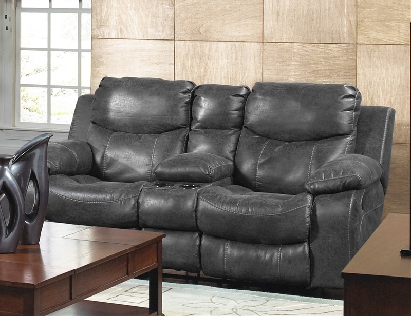 Catalina Leather Power Reclining Console Loveseat By Catnapper 64319