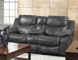Catalina Leather POWER Reclining Console Loveseat by Catnapper - 64319