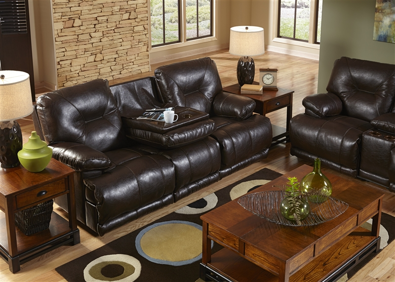 Astonishing Mercury Power Leather Lay Flat Reclining Sofa With Drop Down Table By Catnapper 643345 Beatyapartments Chair Design Images Beatyapartmentscom