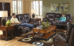 Mercury POWER Leather 3 Piece Lay Flat Reclining Sectional by Catnapper - 643345-3