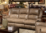 Livingston POWER Leather Reclining Sofa with Drop Down Table by Catnapper - 64505
