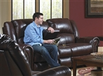Livingston POWER Leather Reclining Console Loveseat by Catnapper - 64509