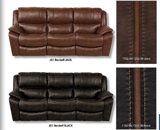 Merveilleux Beckett 2 Piece Power Reclining Sofa Set In Black Color Fabric By Catnapper    6451 SET B