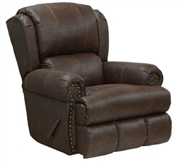 Dempsey POWER Lay Flat Recliner in Sable Leather by Catnapper - 64736-7-S
