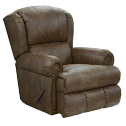 Dempsey POWER Lay Flat Recliner in Thicket Leather by Catnapper - 64736-7-T