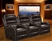 Supernova POWER Theater Seating in Coffee Leather Like Fabric by Theatre Deluxe - 64747-4-C-S