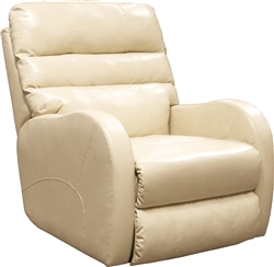 Searcy POWER Wall Hugger Recliner in Parchment Leather Like Fabric by Catnapper - 64747-4-P