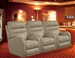 Supernova POWER Theater Seating in Parchment Leather Like Fabric by Theatre Deluxe - 64747-4-P-S