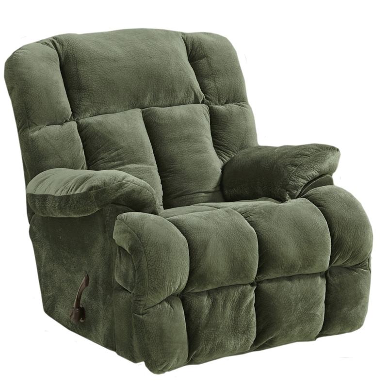 Cloud 12 Chaise Rocker Recliner In Sage Microfiber By