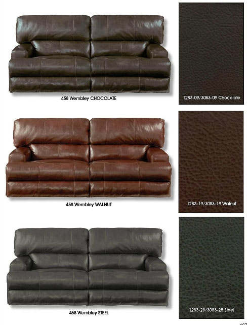 Astounding Wembley Power Headrest Power Lumbar Power Reclining Sofa In Walnut Leather By Catnapper 764581 W Pabps2019 Chair Design Images Pabps2019Com