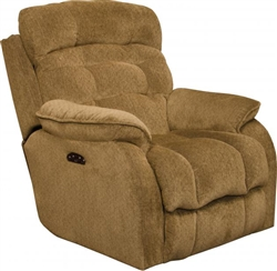 Crowley Power Headrest Power Lumbar Power Lay Flat Recliner in Bronze Chenille Fabric by Catnapper - 7647727-B