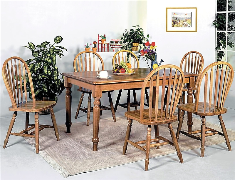 farmhouse dining set farmhouse 5 dining set in oak finish by crown 10746