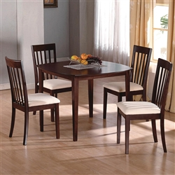 Ashland 5 Piece Dining Set in Espresso Finish by Crown Mark - 1083