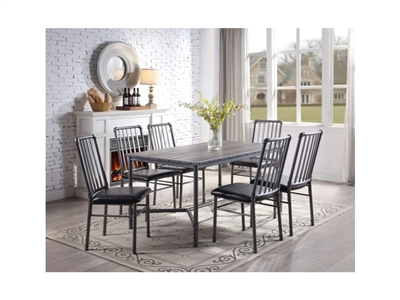 Devar 5 Piece Dining Set in Metal and Wood Composition by Crown Mark - CM-1112