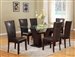 Camelia 5 Piece Dining Set in Espresso Finish by Crown Mark - 1210-ESP