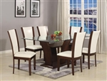 Camelia 5 Piece Dining Set in Espresso Finish by Crown Mark - 1210-WH