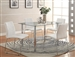 Crystal 5 Piece Dining Set by Crown Mark - 1240-WH