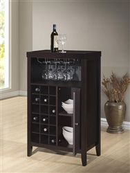 Layla Wine Cabinet in Dark Finish by Crown Mark - 1308