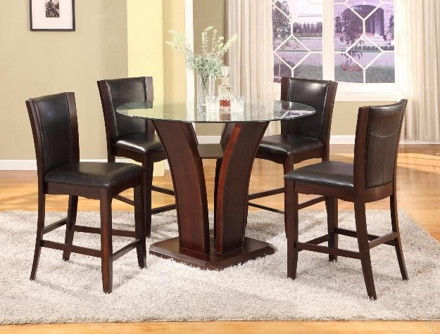 Camelia 5 Piece Counter Height Dining Set In Espresso