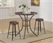 Kylie 3 Piece Counter Height Dining Set by Crown Mark - 1718