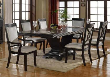 Good Serendipity 7 Piece Dining Set In Extra Dark Espresso Finish By Crown Mark    2031