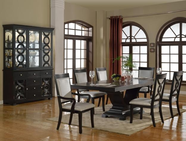 Serendipity Complete Dining Set China Included In Extra Dark Espresso  Finish By Crown Mark   2031C