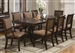 Merlot 7 Piece Dining Set in Brown Cherry Finish by Crown Mark - 2145