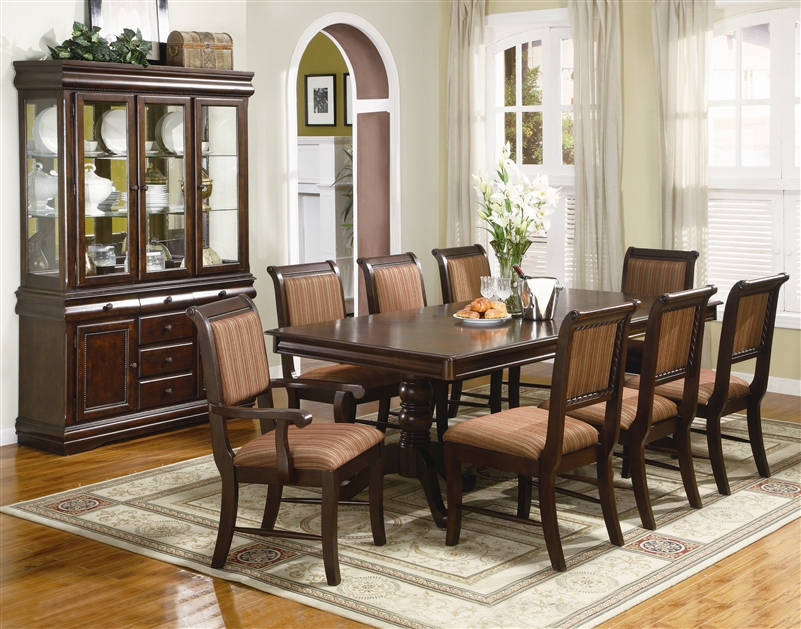 Charmant Merlot Complete Dining Set China Included In Brown Cherry Finish By Crown  Mark   2145C