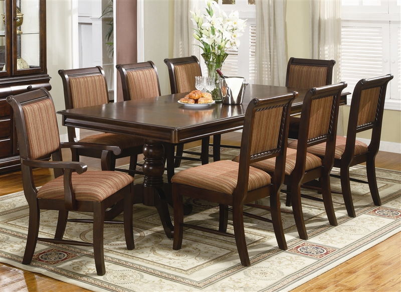 Merlot Complete Dining Set China Included in Brown Cherry Finish ...