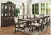 Merlot Complete Dining Set China Included in Grey Finish by Crown Mark - CM-2147C