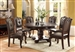 Kiera Complete Round Table Dining Set Sideboard Included in Rich Dark Brown Finish by Crown Mark - CM-2150C-RD
